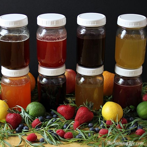 Natural Fruit & Herb Honey Syrups