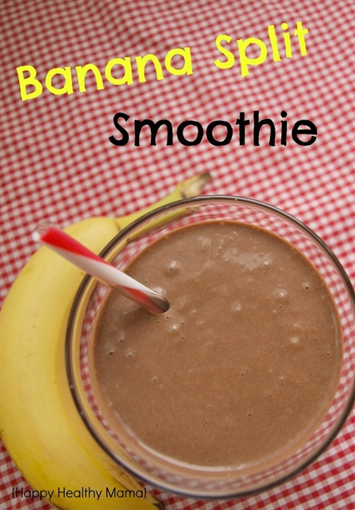 Healthy Banana Split Smoothie