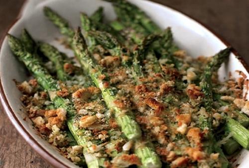Spring Asparagus and Asiago Gratin