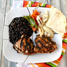 Deconstructed Grilled Chicken Fajitas