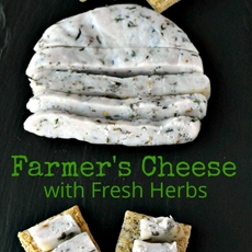 Farmers Cheese with Fresh Herbs #DairyMonth