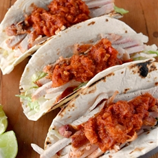 Applewood Bacon al Pastor Style Tacos SmithfieldFresh #CollectiveBias