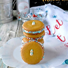 Gingerbread Macaron #ChristmasCookies