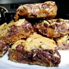 Chocolate Chip Cookie and Caramel-Peanut Butter Bars