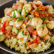 Saucy Sautéed Shrimp over Lemon Quinoa