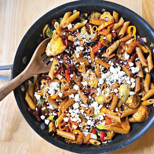 Skinny mediterranean pasta toss
