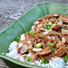 Slow Cooker Shredded Asian Chicken Over Jasmine Rice