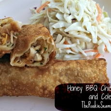 Honey BBQ Chicken Eggrolls