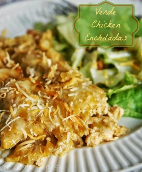 Verde Chicken Enchiladas