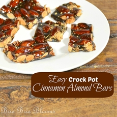 Easy Crock Pot Cinnamon Almond Bars