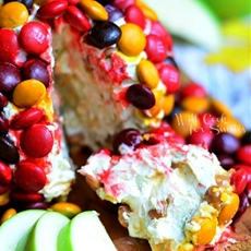 M&M Apple Caramel Cheese Ball and Sparkling Apple Cider