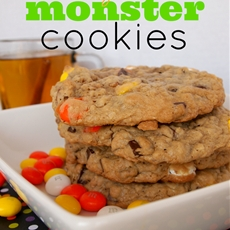 Candy Corn Monster Cookies