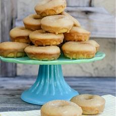 Homemade Baked Churro Caramel Doughnuts