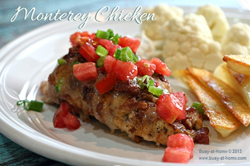 Savory, Delicious Monterey Chicken with Home Fries
