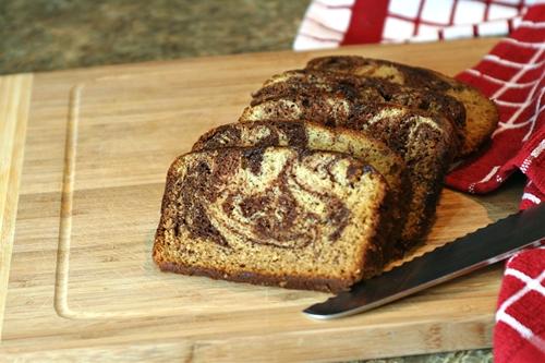 Moist, Decadent Chocolate Swirl Banana Bread
