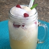 Peach Melba Lemonade Float