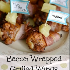 Bacon Wrapped Grilled Wings