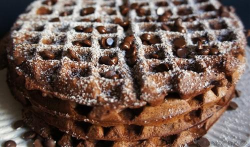 Chocolate-Hazelnut Waffles
