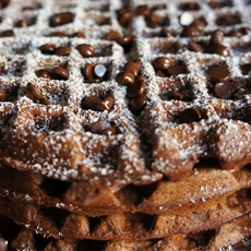 Chocolate-Hazelnut Waffles