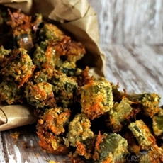 Oven Fried Okra with Kraft Fresh Take