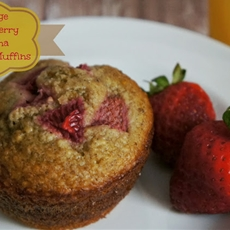 Orange Strawberry Banana Oatmeal Muffins