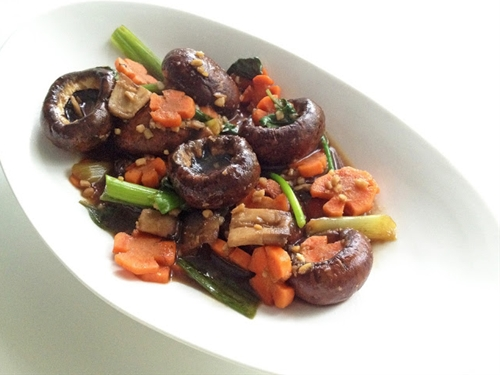 Sesame Mushrooms