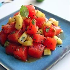 Hoisin Cucumber and Watermelon Salad