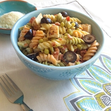 Ranch Chicken and Bacon Pasta Salad