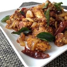 Spicy Dry-Fried Chicken (Chicken Varuval)