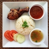 Malay Fried Chicken Rice (Nasi Ayam Goreng Kampung)