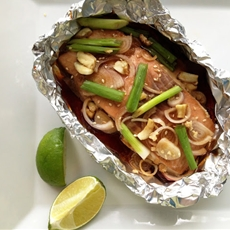 Baked Honey Salmon with Soy Sauce