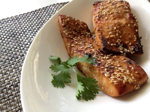 Broiled Sesame Salmon