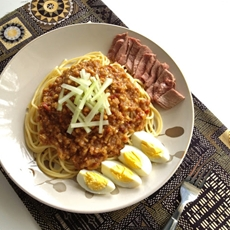 Beef Noodles in Peanut Sauce (Rojak Daging)
