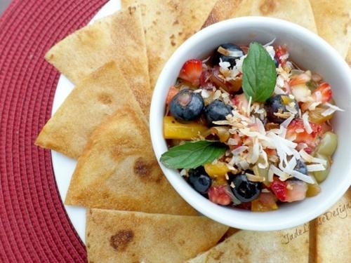 Fresh fruit salsa recipe + sweet cinnamon chips