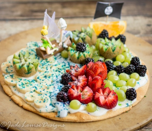 Pixie Hollow Fruit Pizza; The Pirate Fairy Inspired