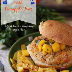 Tropical Baloo Burgers With Pineapple Fries