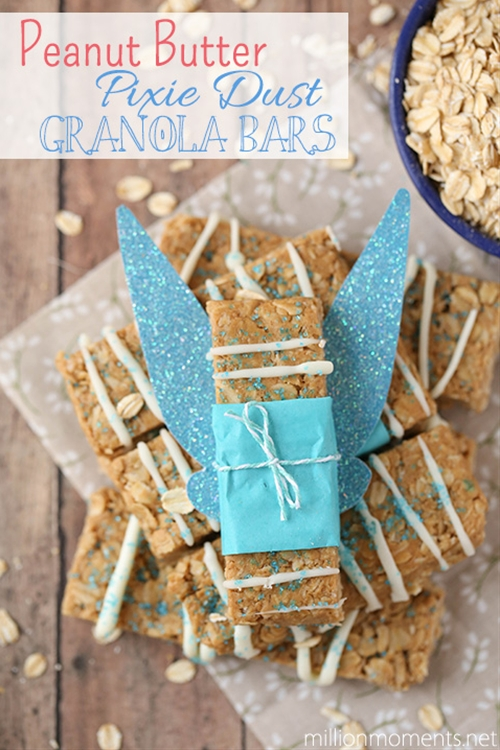 Peanut butter pixie dust granola bars