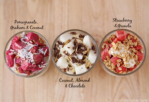easy frozen fruit bar parfait cups {recipe} - a mi