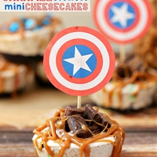 Caramel M&M Cheesecake Bites