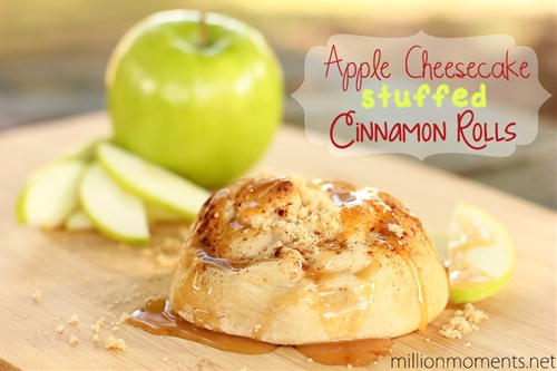 Apple cheesecake stuffed cinnamon rolls