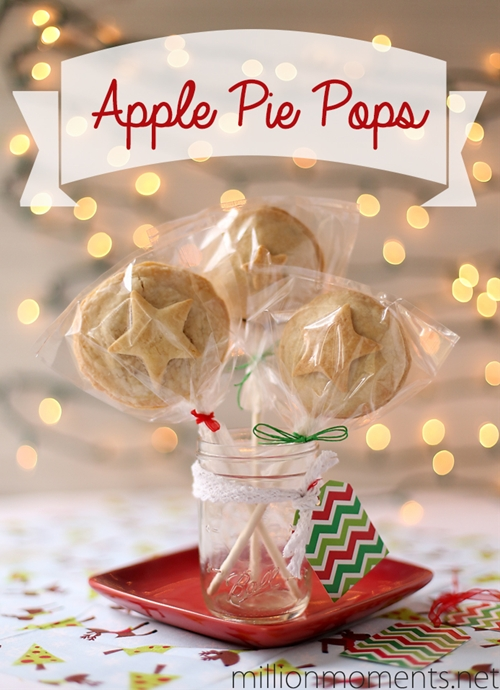Festive apple pie pops with butter crust