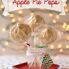 Festive apple pie pops with butter crust