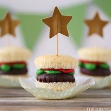Easy Burger Cupcakes