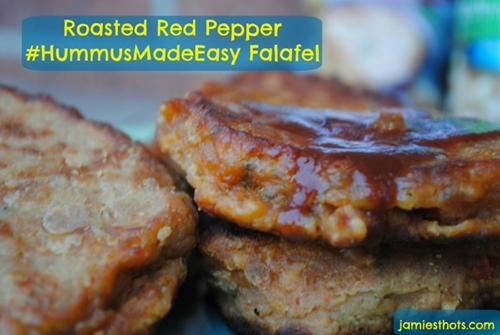 Roasted Red Pepper #HummusMadeEasy Falafel