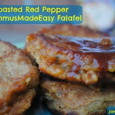 Roasted Red Pepper #HummusMadeEasy Falafel