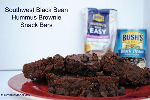 Southwest Black Bean Hummus Brownie Snack Bars
