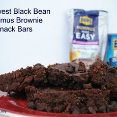 Southwest Black Bean Hummus Brownie Snack Bars