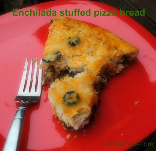 Enchilada stuffed pizza bread