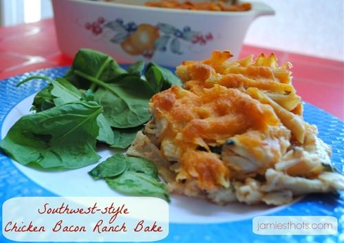 Southwest Chicken Bacon Ranch Casserole Bake