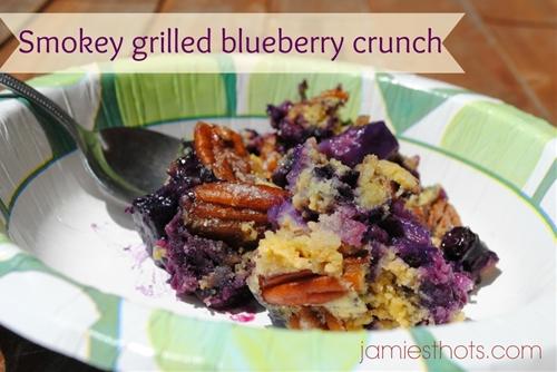 Smokey grilled blueberry crunch